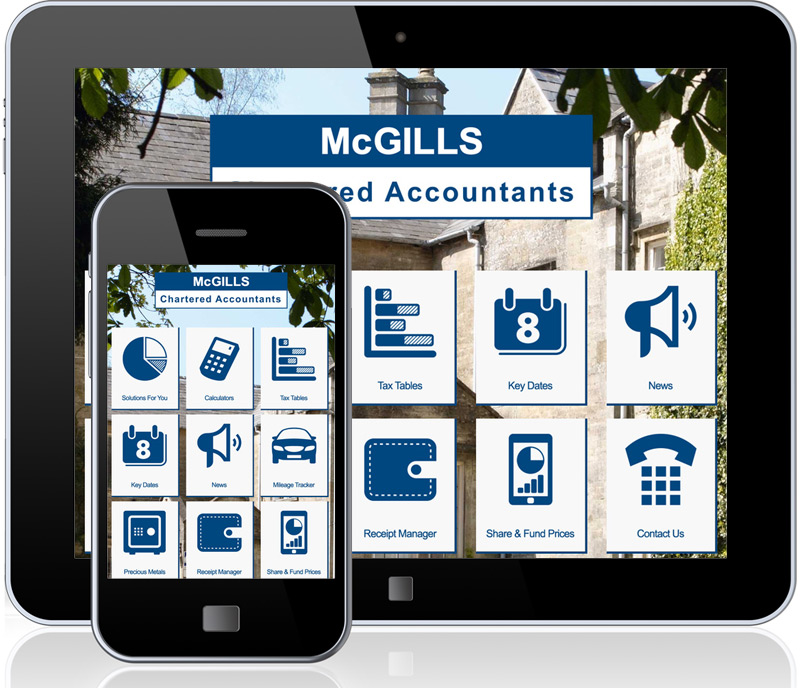 McGills app for iOS and Android