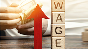 Wages rise at the fastest rate in a decade